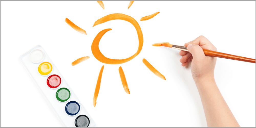 Drawing of sun